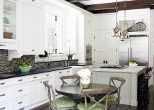 Shabby chic kitchen with French flavor and industrial overtones