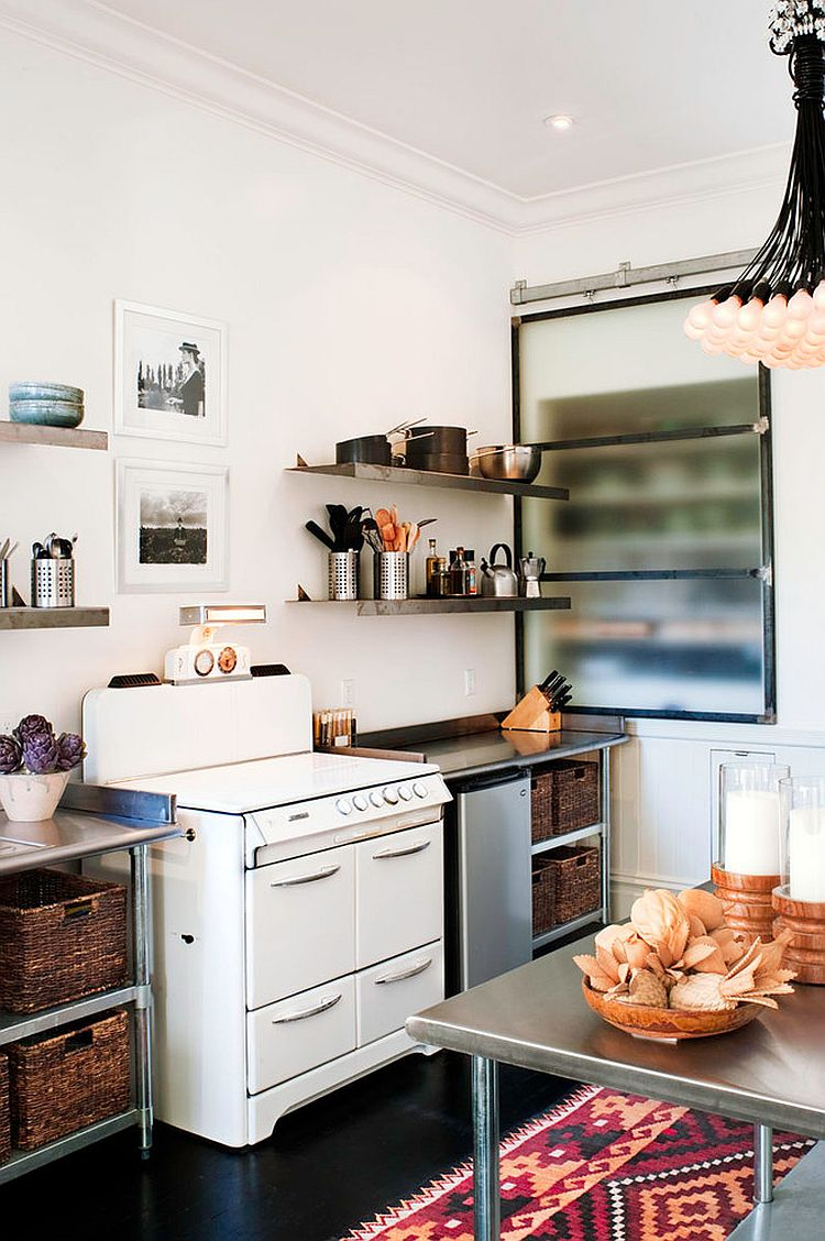 25 trendy kitchens that unleash the allure of sliding barn for Kitchen decor inspiration
