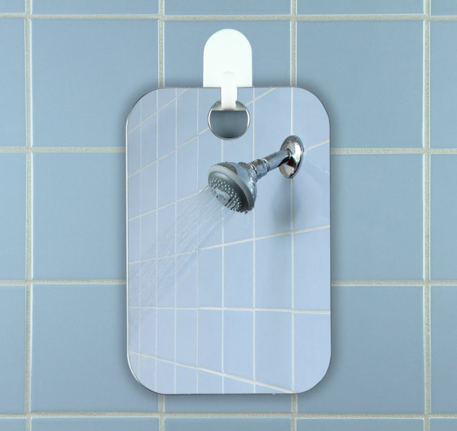 Shaving anti-fog shower mirror