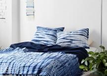 Shibori bedding from Urban Outfitters 217x155 17 Beautiful Decorative Uses of Shibori Indigo Patterns
