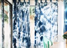 Shibori curtains