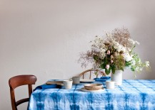 Shibori tablecloth from Bind and Fold