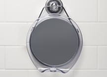 Shower mirror with a strong suction wall mount 217x155 20 Stylish Shaving Mirrors