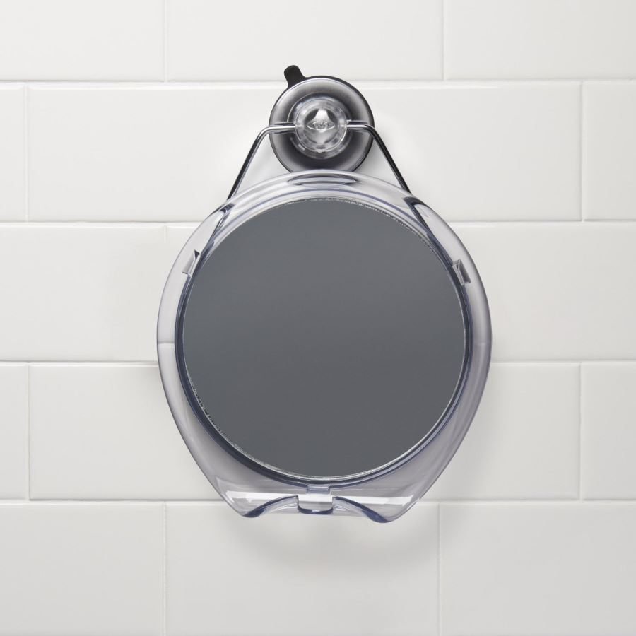 Shower mirror with a strong suction wall mount