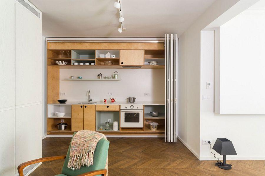 Sleek and stylish small kitchen design