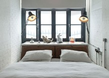 Small-bedroom-design-in-white-and-gray-with-cool-bedside-lights-217x155