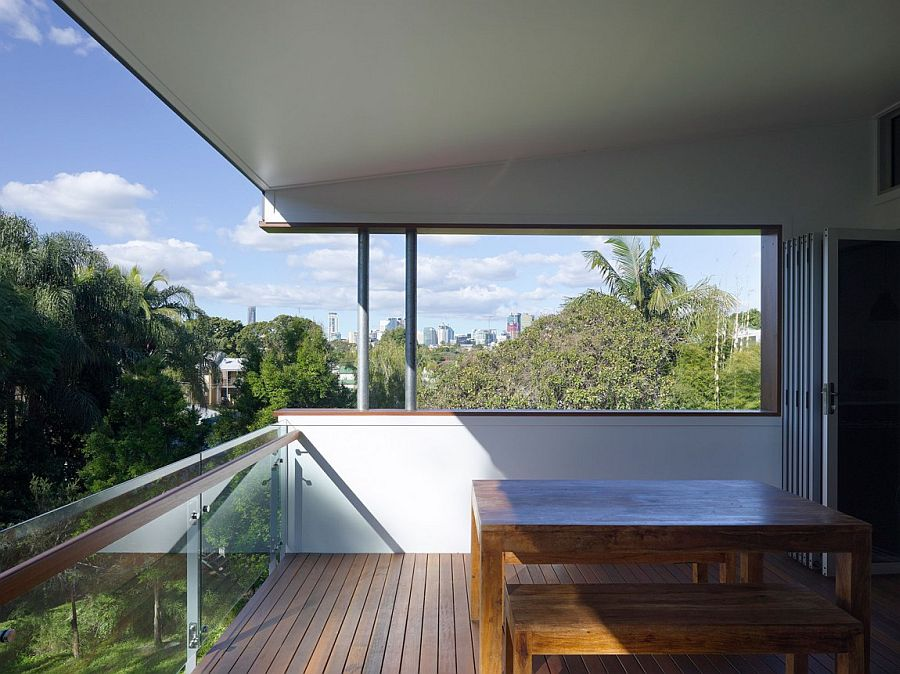 Small top level balcony of the Paddington home with city view