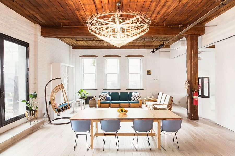 Spacious Williamsburg Loft in New York Williamsburg Loft: Industrial NYC Home Designed for a Chef and a Sculptor!