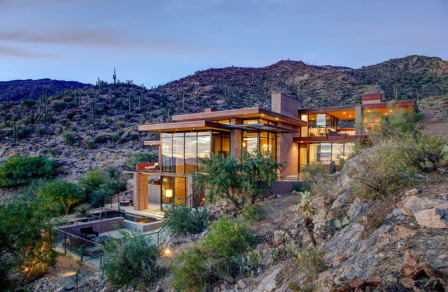 Mountain home with scenic views by kevin b howard architects for Modern mountain house