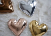 St. Jude heart ornaments from West Elm