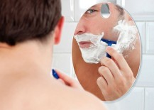 Stylish fogless shaving mirror