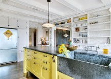 Stylish kitchen showcases a fusion of shabby chic and contemporary styles [Design: J.A.S. Design-Build]