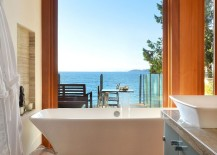 Take in the mesmerizing view as you soak in the bathtub