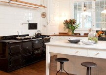 Throw in a couple of flea market finds to give your shabby chic kitchen an air of authenticity [Design: Mary Mac Elree Interiors]