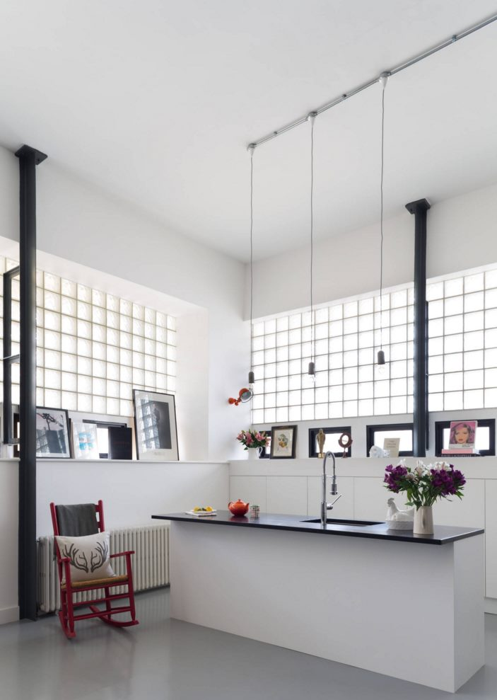 Track lighting featuring small pendants