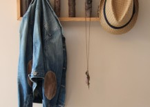 Tree branch coat hanger to hang on a wall 217x155 15 Cool Coat Racks That Really Branch Out