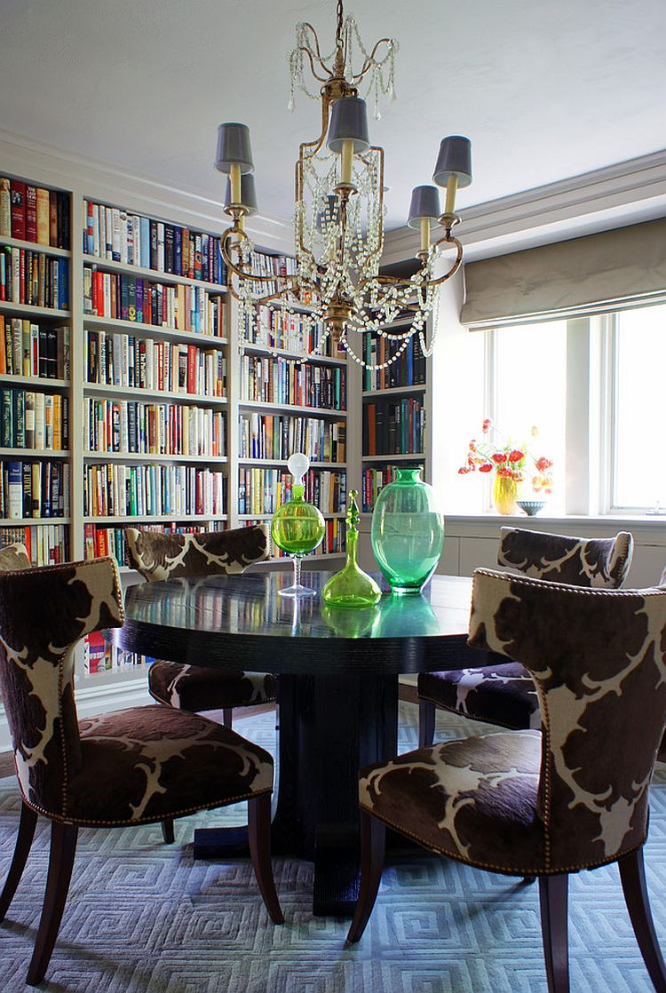 Turn your dining room into a useful reading room and home library [Design: Christopher Burns Interiors]