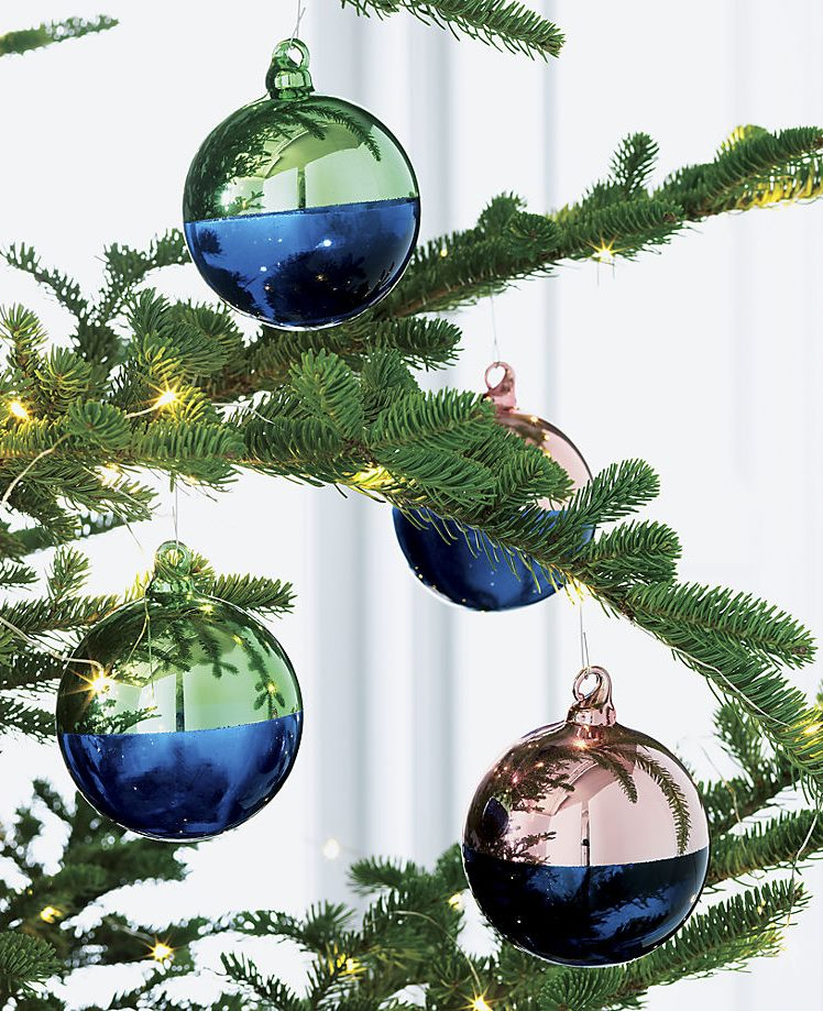 Two-tone ornaments from CB2