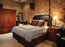 Unearth and showcase that original brick wall in the bedroom