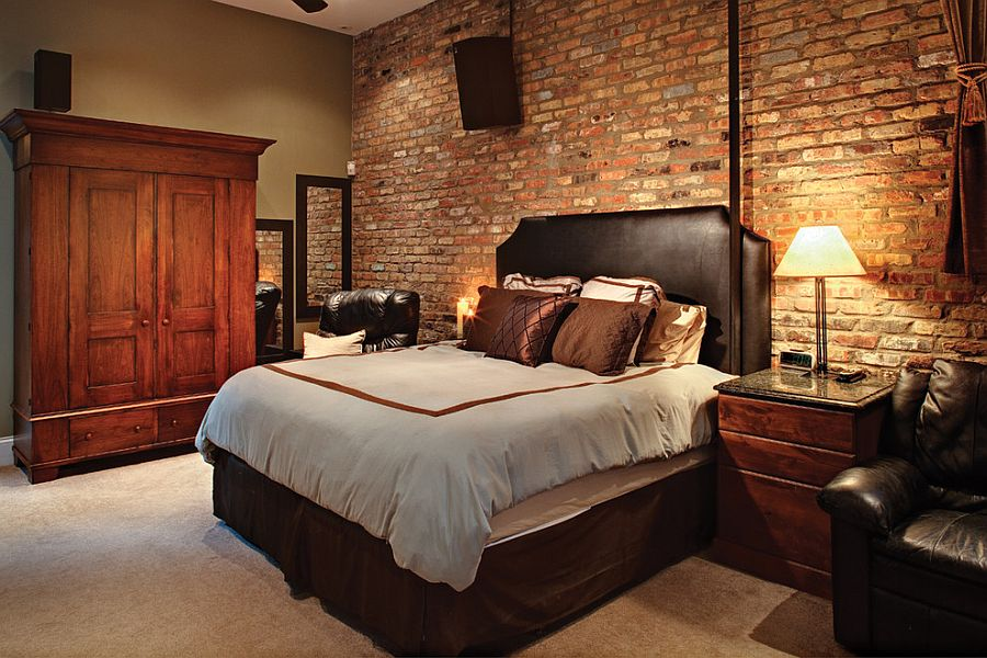 50 delightful and cozy bedrooms with brick walls Brick wall bedroom design