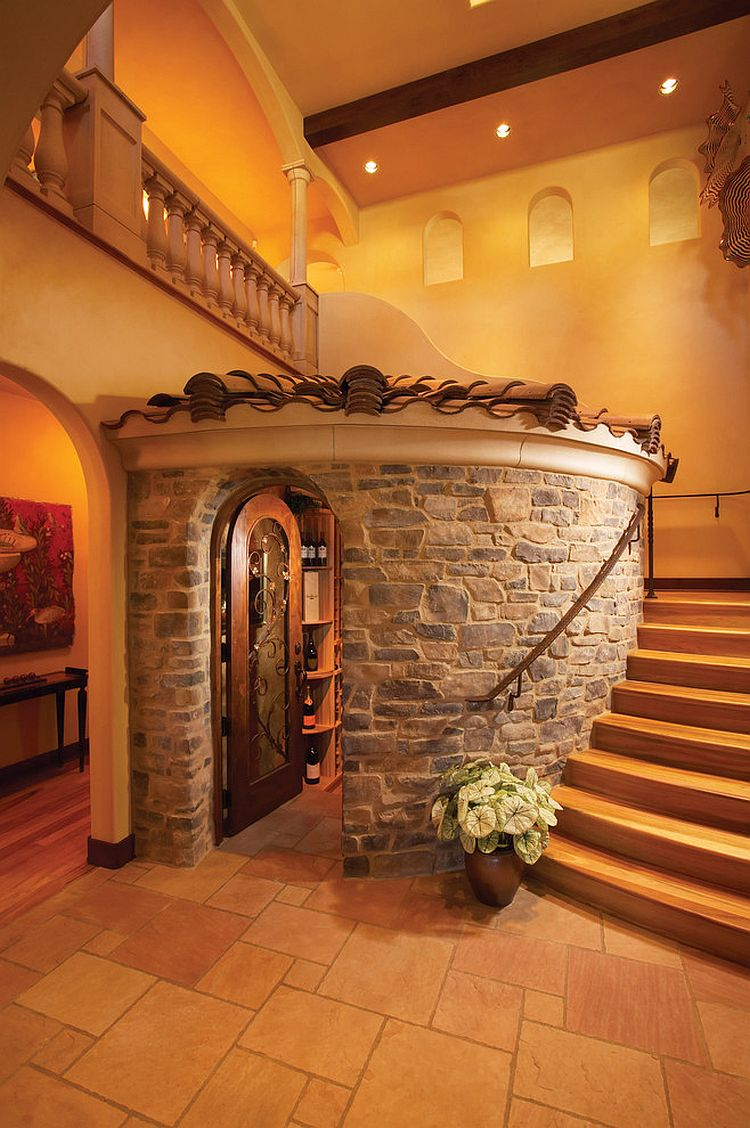 Unique Mediterranean wine cellar with rustic charm [Design: Eldorado Stone]