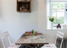 Upcycled and recycled finds create a small dining room [Photography: Chris Snook]