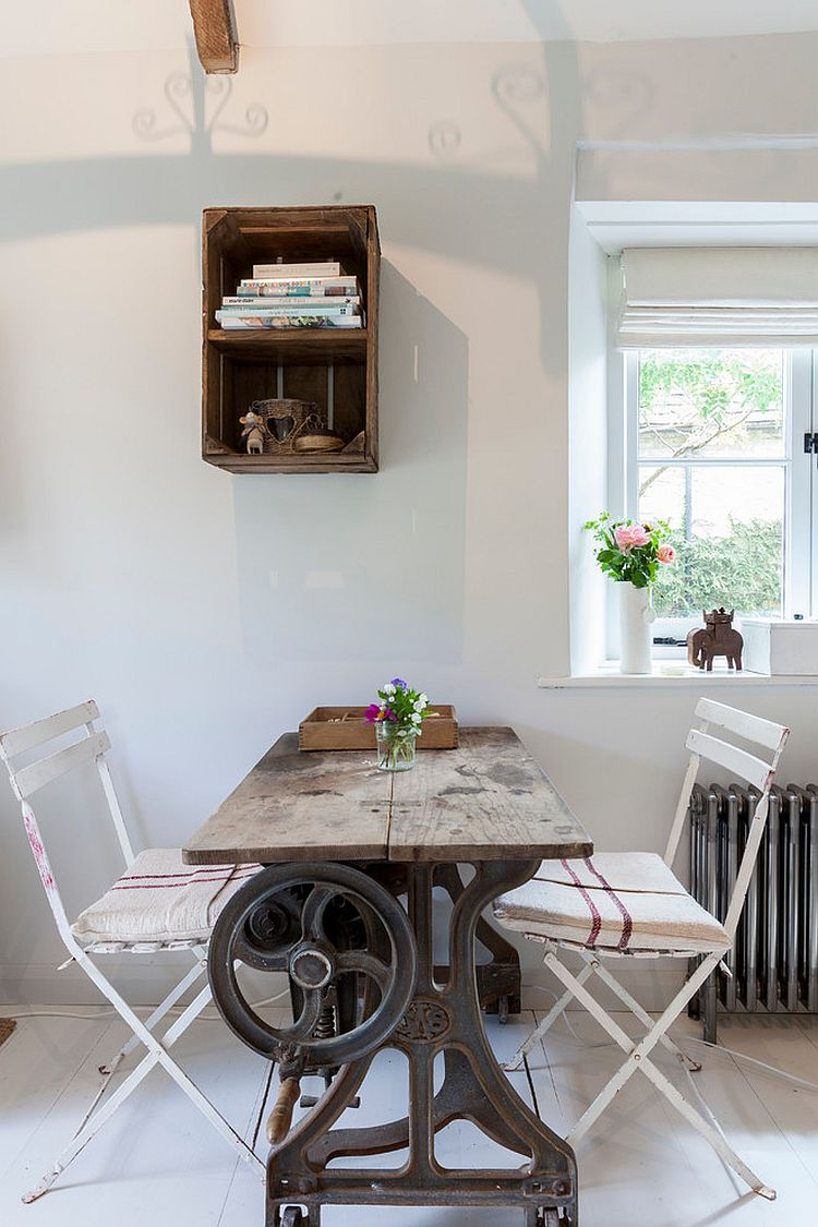 upcycled and recycled finds create a small dining room  photography  chris snook