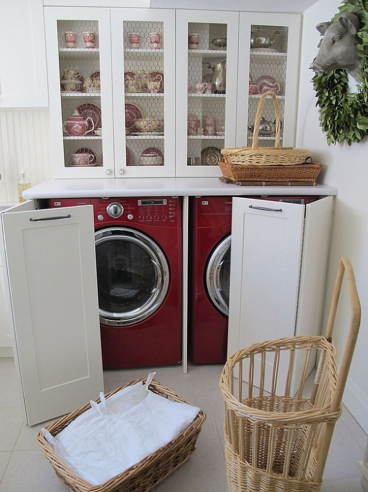 ... Washer And Dryer Hidden In A Kitchen Hutch