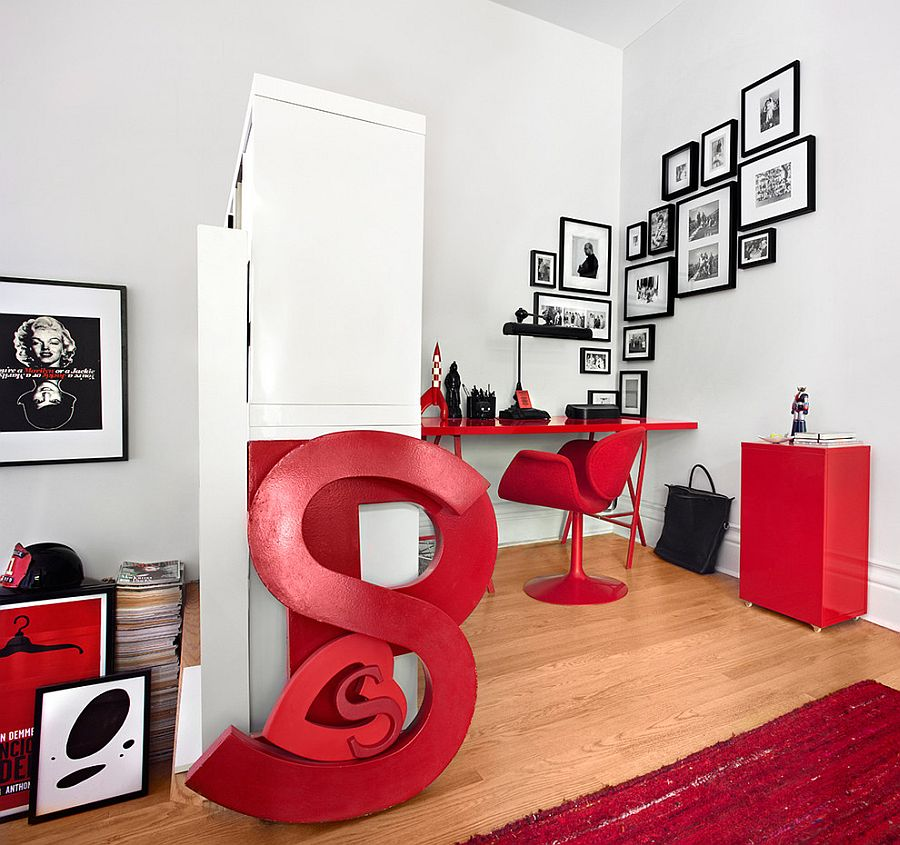 White and red is a classic that never fails [From: Lisa Petrole Photography / Stephane Chamard Architect]
