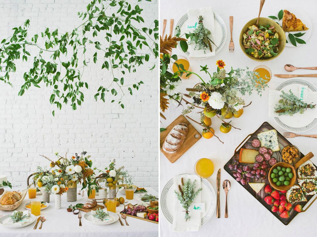 White backdrop for a fall table by Design Love Fest