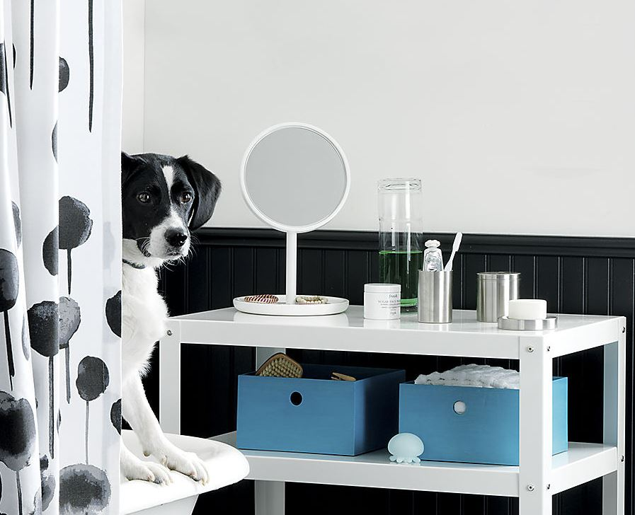 White vanity mirror from CB2