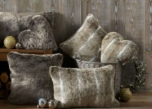 Wintery faux fur cushions from Next Home Style