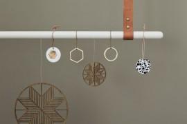 ferm LIVING's geo ornaments in a range of styles