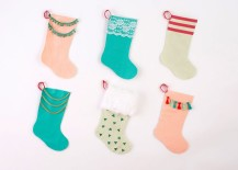 below you will find 10 stockings that celebrate popular trends such as modern patterns faux fur and tassels enjoy and happy holidays - Modern Christmas Stockings