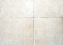 A floor with clean grout