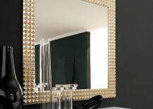 A mirror that is perfect for the glamorous bathroom or bedroom