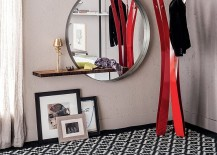 A-perfect-combination-of-round-mirror-and-sleek-shelf-for-the-small-urban-interior-217x155