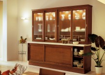 A perfect display and storage unit for the spacious modern kitchen