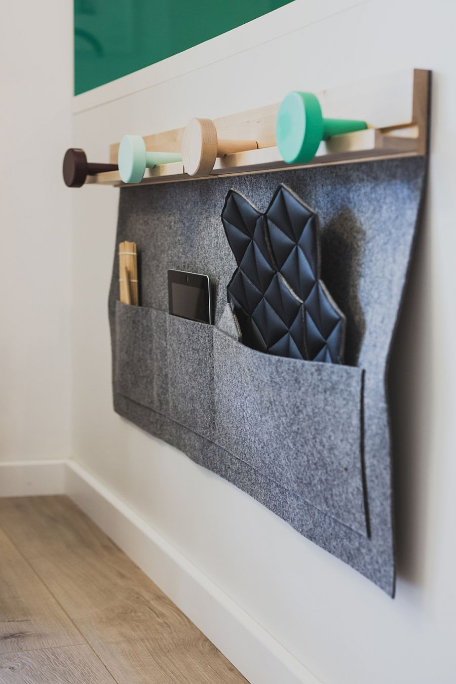 A simple way to hang your devices and accessories with Scandinavian simplicity