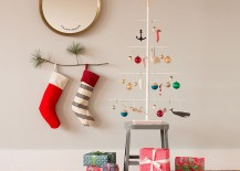 8 festive ways to hang stockings when you don t have a fireplace