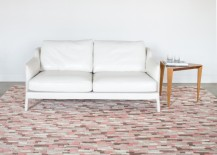 Abstract pink rug from Angela Adams