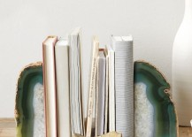 Agate bookends from West Elm