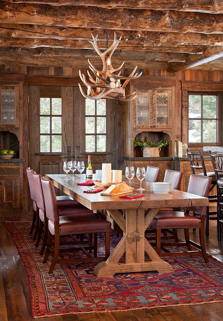 Spanish peaks cabin a rustic gateway to big sky s for Log cabin chandelier
