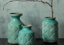 Aqua ceramic vases from West Elm