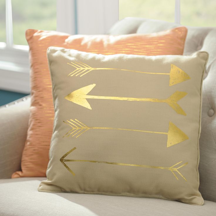 Arrow decorative pillows