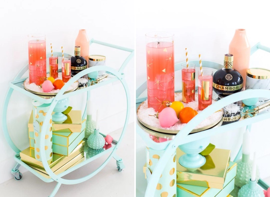 Bar cart from Sugar & Cloth