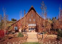 Barn inspired extreior of the WIlson Mountain Residence