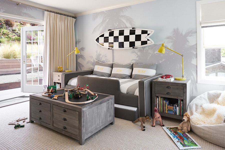 Beach style kids' room looks lovely despite minimal use of bright colors [Design: Studio Munroe]