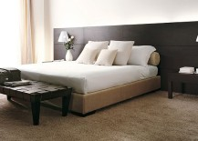 Beautiful Hotel Bed from Porada 217x155 Quartet of Contemporary Beds Delivers Customized Comfort