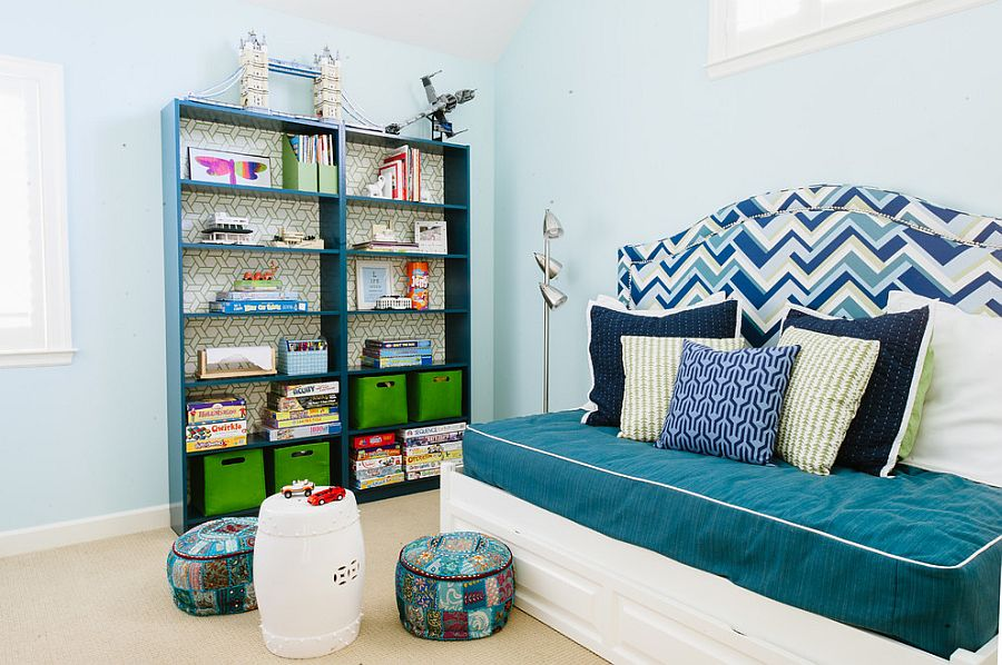 Beautiful playroom and guest room combination with a lovely daybed [From: Cristin Priest - Simplified Bee]